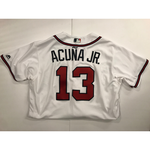 Photo of Ronald Acuna Jr. Game Used Jersey - Home Run - 7/26/2018