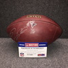 Crucial Catch - Falcons Deion Jones signed and game used football w/ Crucial Catch logo and Falcons team logo (October 15, 2017)
