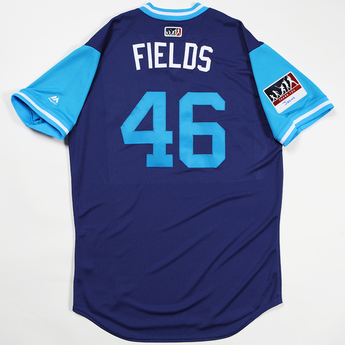 "Photo of Josh ""Fields"" Fields Los Angeles Dodgers Team-Issued 2018 Players' Weekend Jersey"
