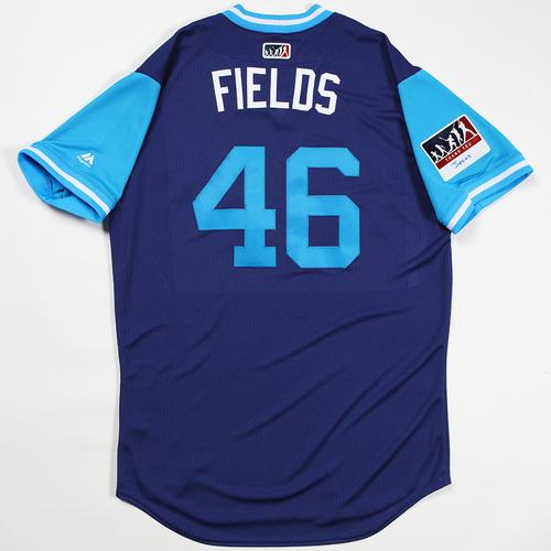 "Photo of Josh ""Fields"" Fields Los Angeles Dodgers Team-Issued 2018 Players' Weekend Jersey"