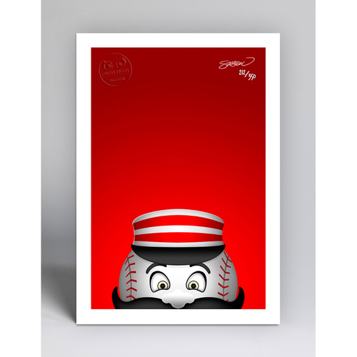 Photo of Mr. Redlegs - Limited Edition Minimalist Mascot Art Print by S. Preston  - Cincinnati Reds
