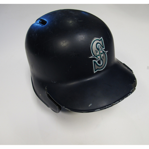 Photo of Seattle Mariners Kyle Seager Team-Issued Batting Helmet - 8/17/18 vs. LAD