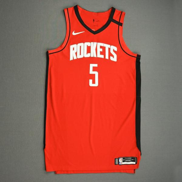 Image of Bruno Caboclo - Houston Rockets - Game-Issued Icon Edition Jersey - 2019-20 NBA Season Restart with Social Justice Message