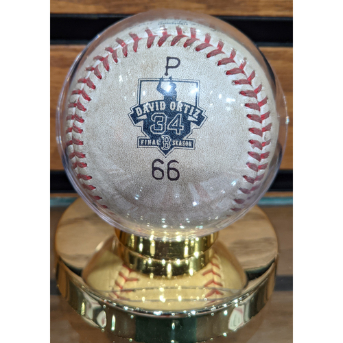 Photo of David Ortiz Final Season October 2, 2016 Game Ready Ball #66