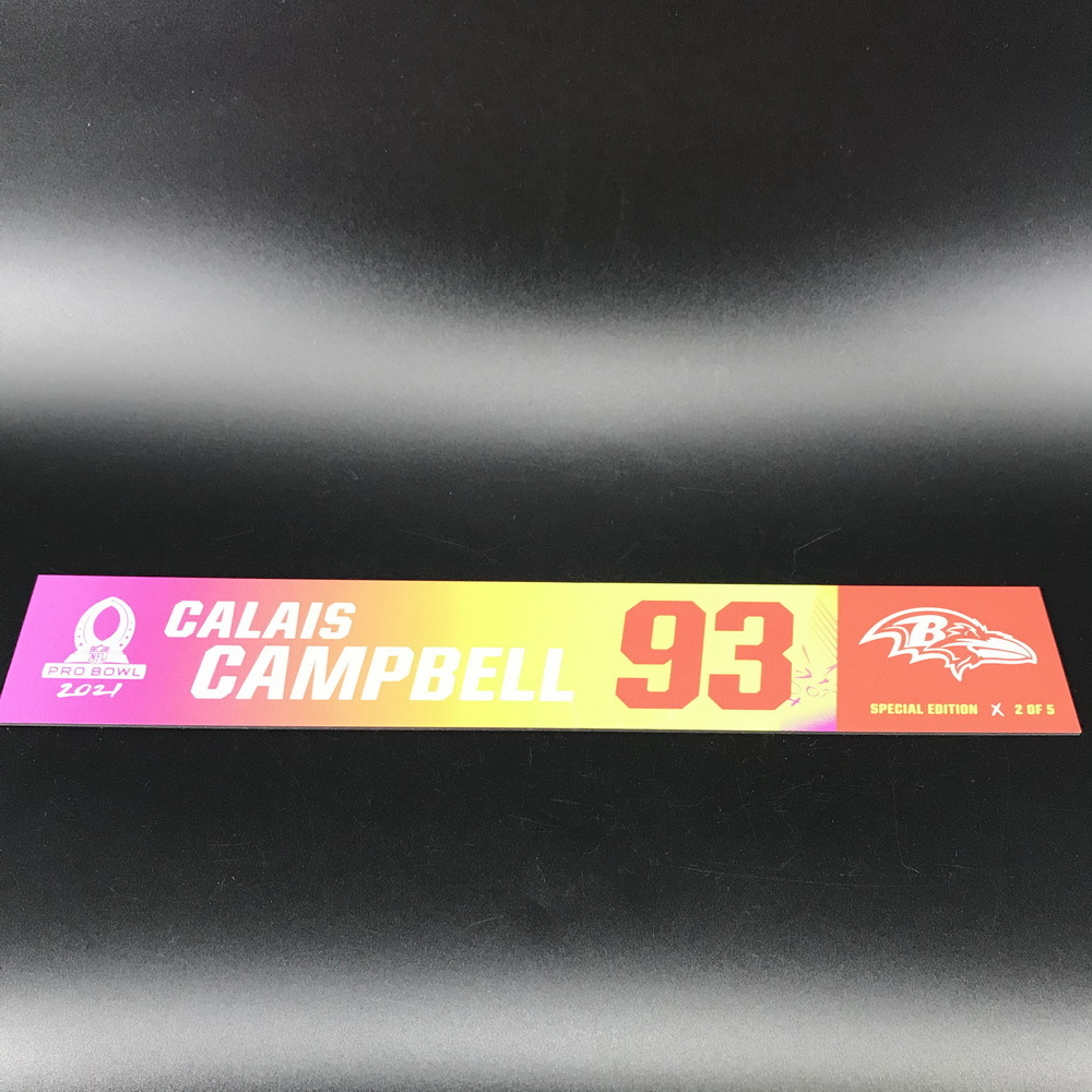 NFL - Ravens Calais Campbell 2021 Pro Bowl Locker Nameplate Special Edition #2 of 5