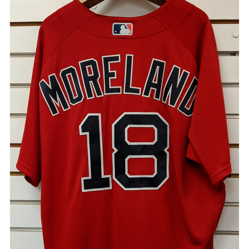 Photo of Mitch Moreland #18 Team Issued Nike Red Spring Training Jersey