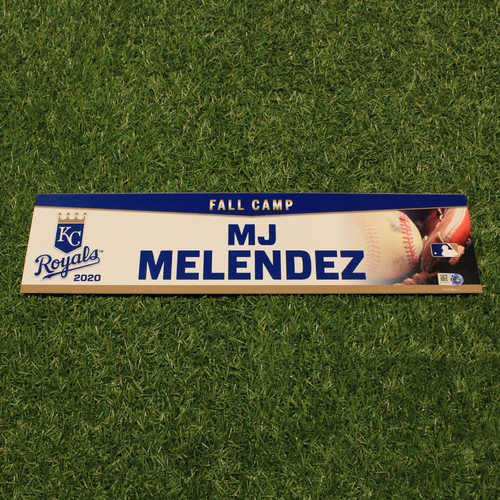 Photo of Team-Issued 2020 Fall Camp Locker Tag: MJ Melendez