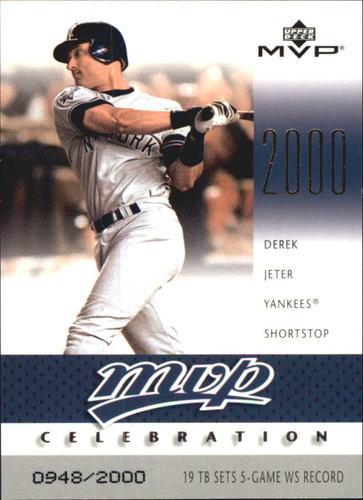 Photo of 2003 Upper Deck MVP Celebration #76 Derek Jeter MM/2000