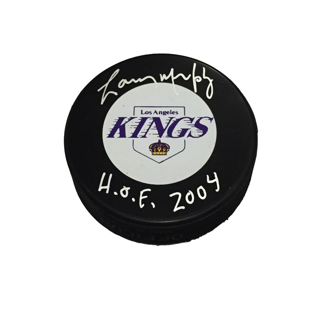 LARRY MURPHY Signed Los Angeles Kings Puck with