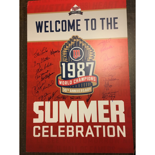 "Photo of ""Welcome to 1987 Summer Celebration"" Autographed Poster"