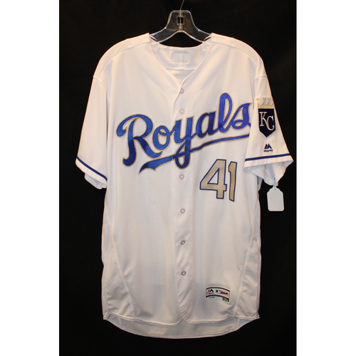 Photo of Game-Used Jersey: Danny Duffy (Size 46  - ARI at KC  - 9/29/17)