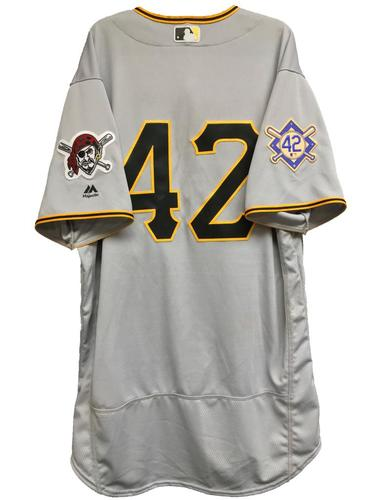 Photo of Colin Moran Game-Used 2018 Jackie Robinson Day Jersey - 1 for 4
