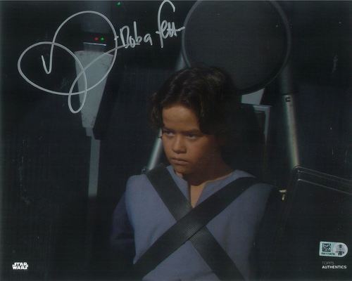 Daniel Logan As Boba Fett 8X10 Autographed in Silver Ink Photo
