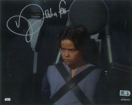 PREORDER Daniel Logan As Boba Fett 8X10 Autographed in Silver Ink Photo
