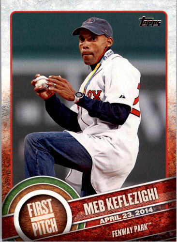 Photo of 2015 Topps First Pitch #FP15 Meb Keflezighi