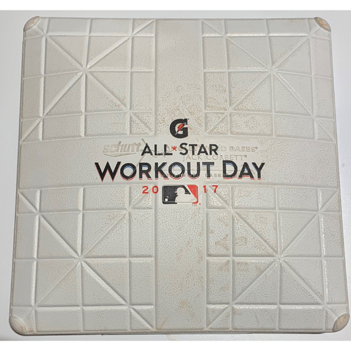 Photo of 2017 All Star Game Workout Day Game Used 1st Base - July 10th