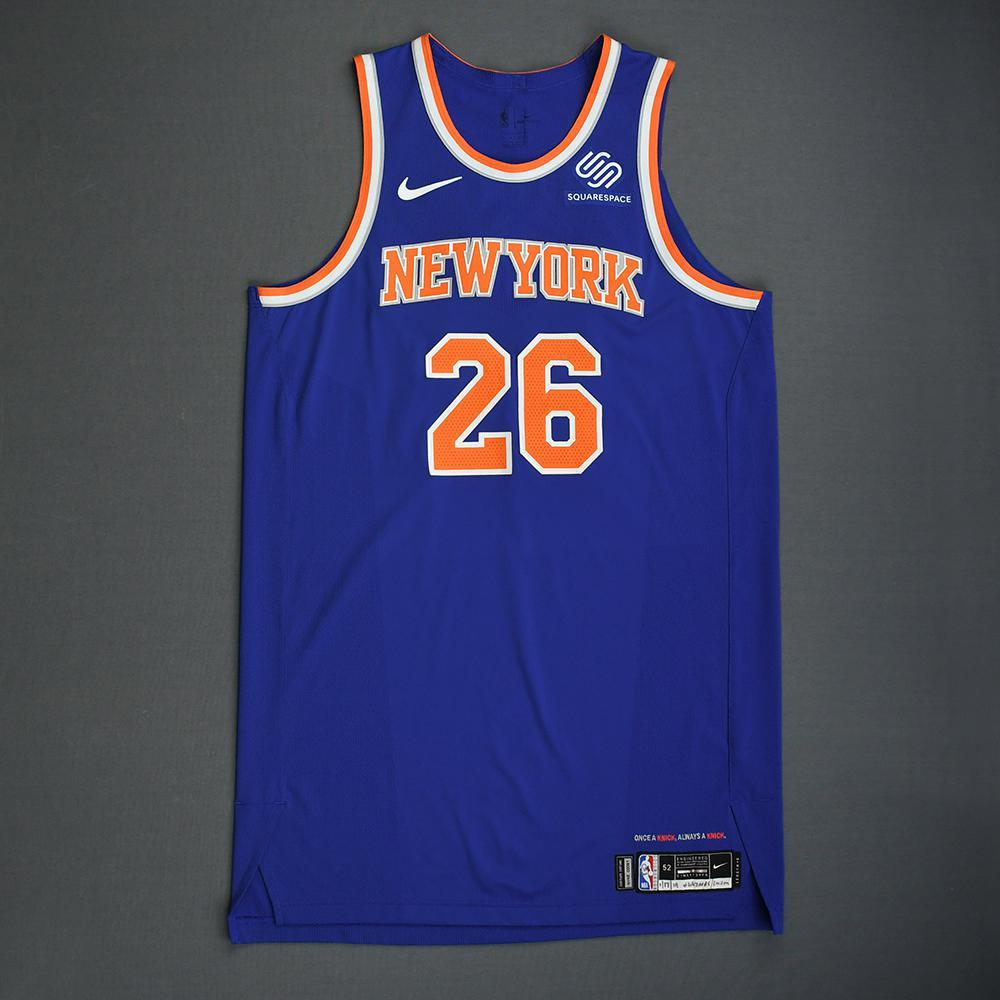 Mitchell Robinson - New York Knicks - 2018-19 Season - London Games - Game-Worn 1st Half Blue Icon Edition Jersey