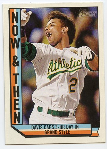 Photo of 2016 Topps Heritage Now and Then #NT15 Khris Davis