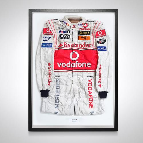 Photo of Fernando Alonso 2007 Framed Race-worn Race Suit - McLaren