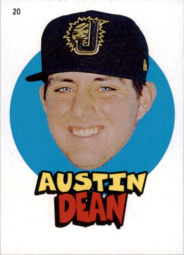 Photo of 2016 Topps Heritage Minors '67 Topps Stickers #20 Austin Dean