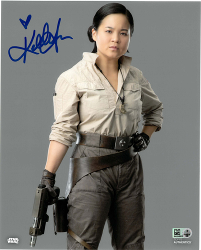 Kelly Marie Tran As Rose Tico 8x10 AUTOGRAPHED IN 'Blue' INK PHOTO