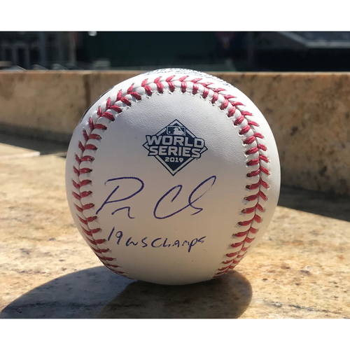 Photo of Patrick Corbin Autographed 2019 World Series Champions Baseball