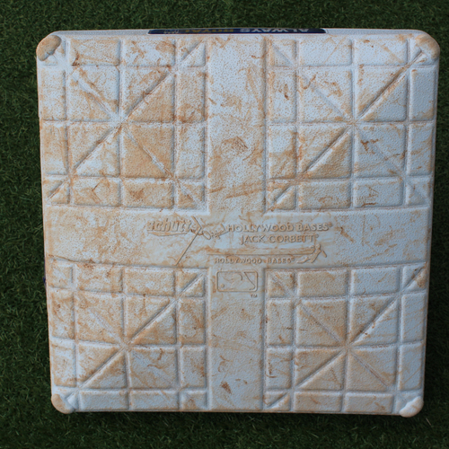 Photo of Game-Used 2nd Base: Jorge Soler 72nd Career Double and 174th Career RBI (Innings 6-9 - BOS @ KC - 6/6/19)