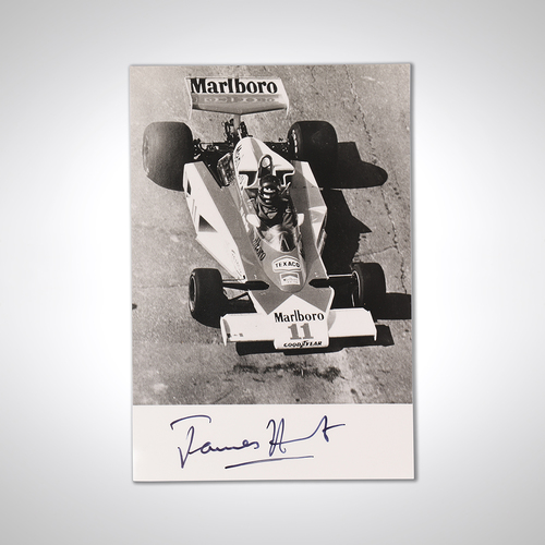 Photo of James Hunt McLaren Signed Photograph