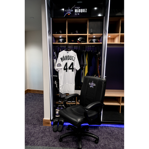Photo of 2021 All-Star Game Clubhouse Chair Panel from German Marquez' Locker Chair