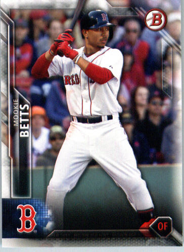 Photo of 2016 Bowman #13 Mookie Betts