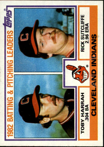 Photo of 1983 Topps #141 Indians TL/BA: Toby Harrah/ERA: Rick Sutcliffe/