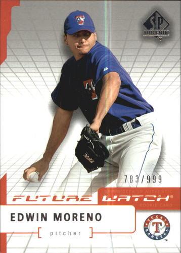 Photo of 2004 SP Authentic #101 Edwin Moreno FW RC