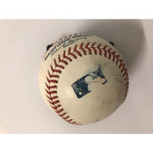 Photo of Manny Machado Game Used Hit Single Baseball - 7/27/2018