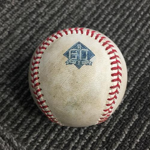 Photo of 2018 San Francisco Giants - Game Used Baseball vs. Oakland Athletics on 7/15/18 - Steven Piscotty RBI Single (Jed Lowrie Scores) & Matt Olsen Foul Ball