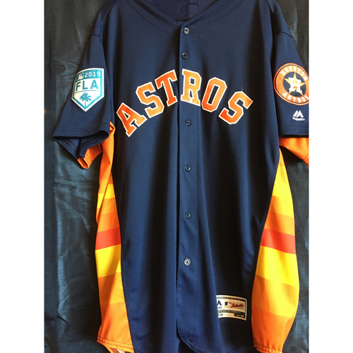 hot sales 597d7 bc365 Astros Auctions | Josh Reddick 2019 Navy Game-Used Spring ...