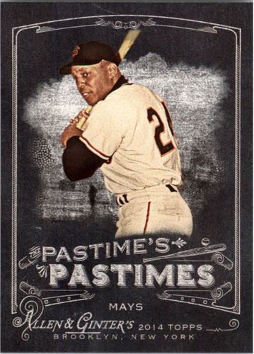 Photo of 2014 Topps Allen and Ginter The Pastime's Pastime #PPWMA Willie Mays