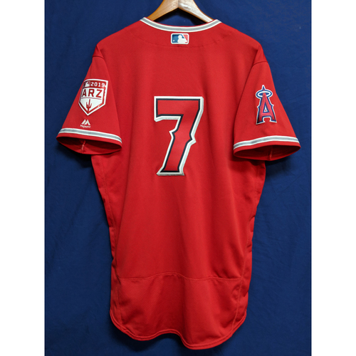 Photo of Zack Cozart Game-Used 2019 Spring Training Jersey - 3/24/19 vs. LAD