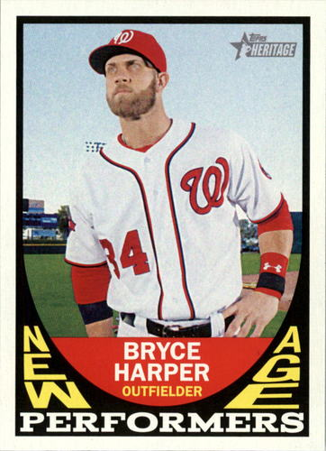 Photo of 2016 Topps Heritage New Age Performers #NAPBH Bryce Harper