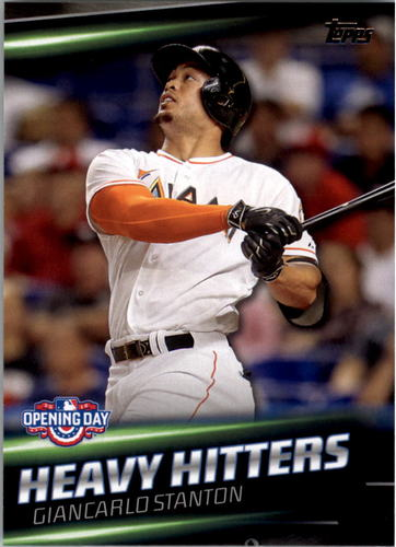 Photo of 2016 Topps Opening Day Heavy Hitters #HH2 Giancarlo Stanton