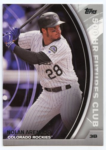 Photo of 2016 Topps Update 500 HR Futures Club Silver #5008 Nolan Arenado