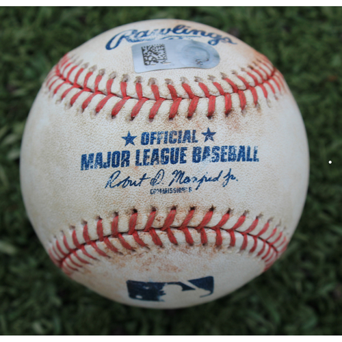 Photo of Game-Used Baseball: Adalberto Mondesi 31st Career Double (DET @ KC - 6/11/19)