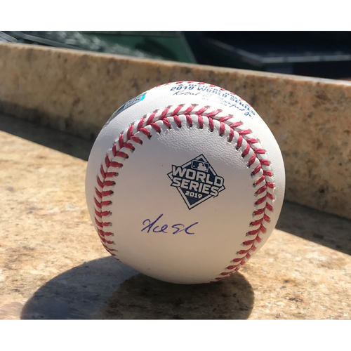 Photo of Adam Eaton Autographed 2019 World Series Champions Baseball