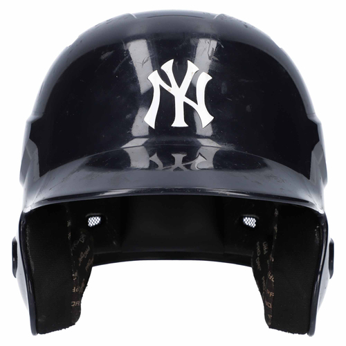 Photo of New York Yankees Team-Issued Batting Helmet from the 2018 MLB Season