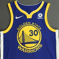 Stephen Curry - Golden State Warriors - NBA China Games - Game-Worn Icon Edition Jersey - Scored a Game-High 40 points - 2017-18 NBA Season