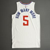 Montrezl Harrell - Los Angeles Clippers - Game-Issued Association Edition Jersey - 2019-20 NBA Season Restart with Social Justice Message