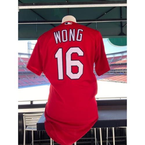 Photo of Cardinals Authentics: 2019 Game Worn Kolten Wong Red Spring Training Jersey
