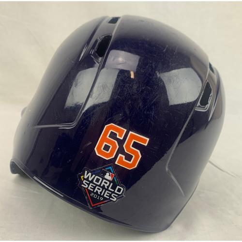 Jose Urquidy Game-Used 2019 World Series Helmet - World Series Game 4 - 10/26/2019 at WAS