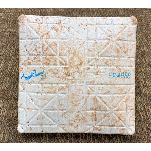 Cabrera Exclusive! Miguel Cabrera Autographed 2021 Opening Day Game-Used Base (HR #488) (MLB AUTHENTICATED)