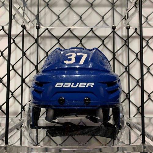 #37 Timothy Liljegren Worn Blue Bauer Helmet