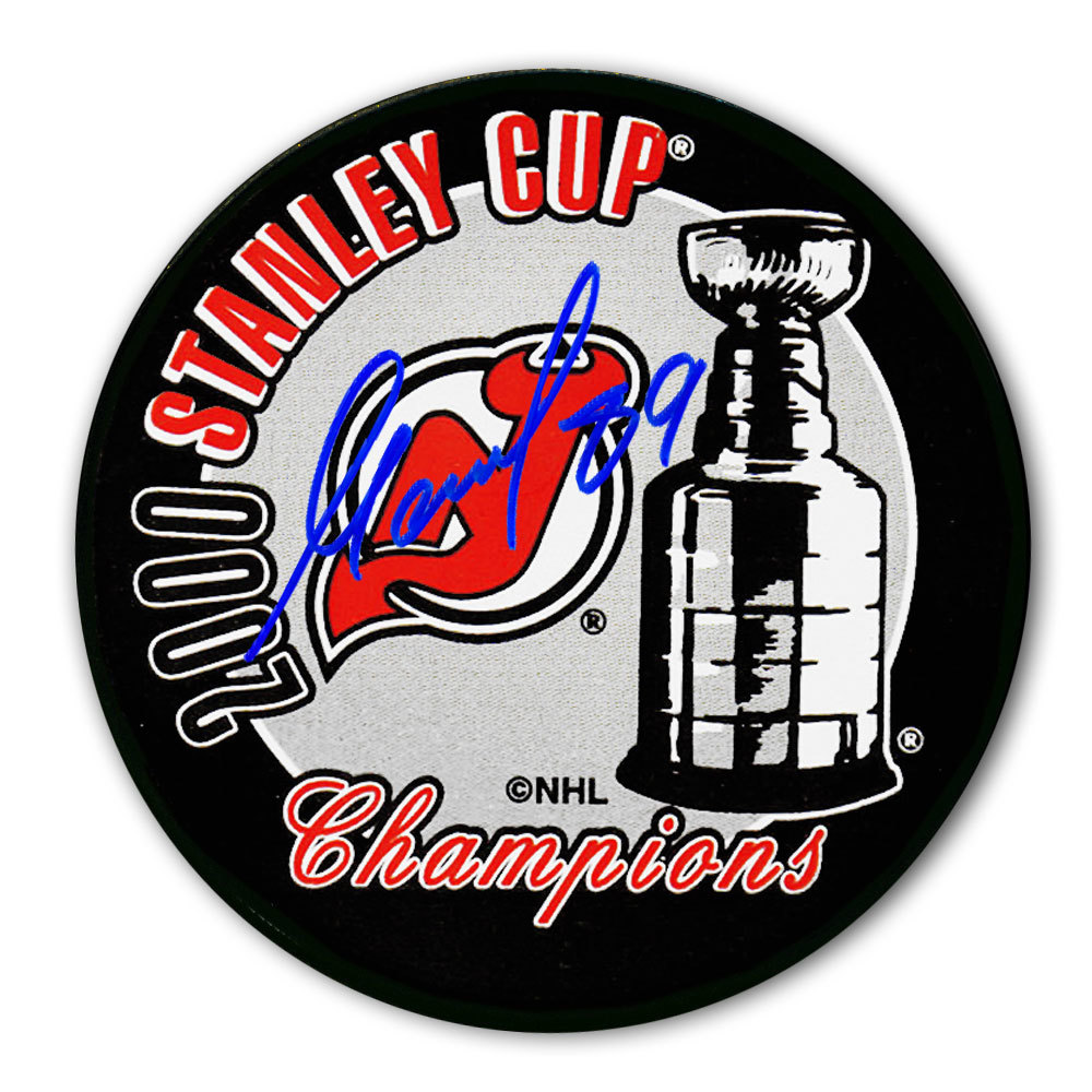 Alexander Mogilny New Jersey Devils 2000 Stanley Cup Champions Autographed Puck